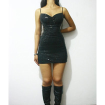 Mini Vestido Sexy Negro Elegante Importado