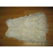 Vestido Blanco Con Capas Straple