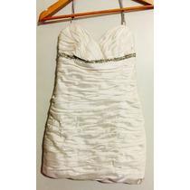 Remate!!vestido Blanco/perla De Alta Costura (pre Prom)