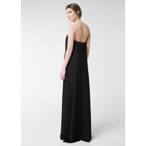 Vestido Largo De Gasa Talla S Mango Mng 100% Original