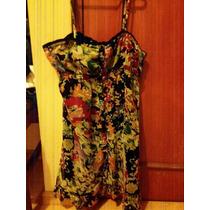 Polivestido Vestido Floreado Talla S Marca Dizzylissy
