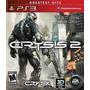 Playstation 3 Crysis 2 3d Greatest Hits-caja Roja