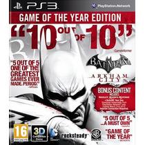 Batman Arkham City Goty Ps3 Español Juegos Ps3 Delivery