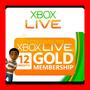 Tarjeta Microsoft Xbox Live Gold 12 Meses - Xbox One Y 360