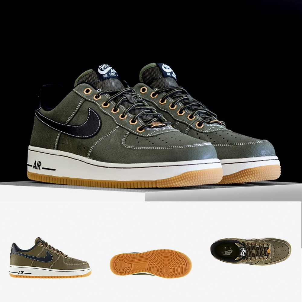 Nike Air Force One Blancas Con Dorado