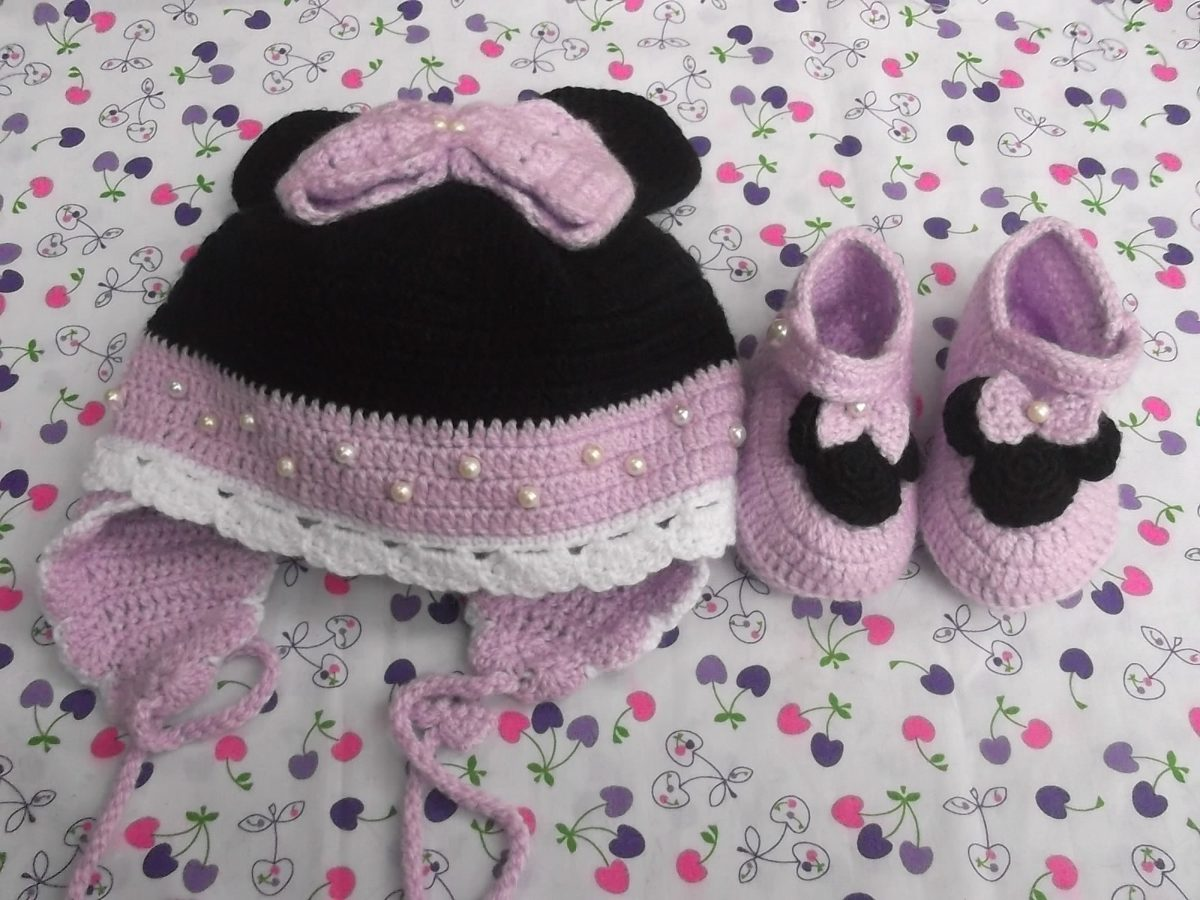 Gorros y escarpines a crochet para bebes hechos a mano - Gorritos bebe ganchillo ...