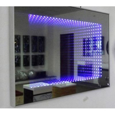 Espejos decorativos infinitos sala comedor ba os con led s for Decoracion de sala comedor con espejos