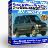 Manual de Reparacion Taller Caravan Voyager Town Country 1992