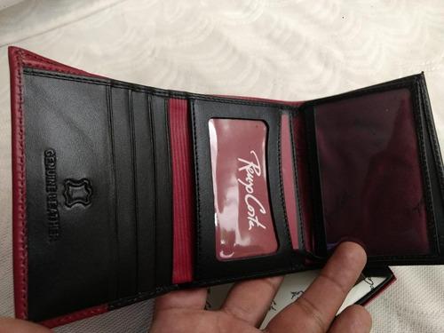 57b8147f5 ... comprar Billetera Renzo Costa Alternativo 3 Cuerpos ,2linea Roja ...