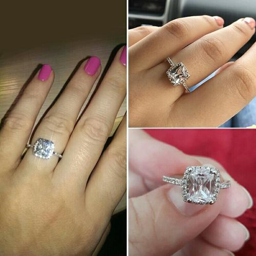 6f13fbaa4ea9 Anillo De Compromiso Oro Blanco 18k Cristales Swarovski en venta en ...