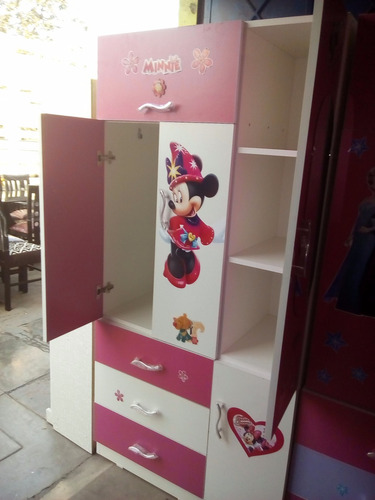 Ropero 3 puertas melamina para ni a nuevo en venta en for Roperos para dormitorios en lima