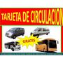 Tarjeta De Circulacion A Nivel Nacional , Buses Coasters Van   RESERVASBUS
