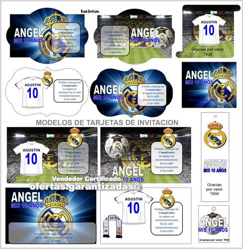 Kit Imprimible Real Madrid Tarjetas Invitaciones Cumpleanos En Venta