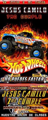 Tarjeta De Invitación Digital Personalizada Hot Wheels En