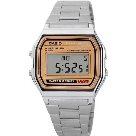 fe04225530e2 Reloj Casio Retro Vintage A158 Plata Con Dorado Original en venta en ...