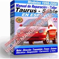 Manual de Reparacion Taller Ford Taurus Mercury Sable 1998 1999 2000