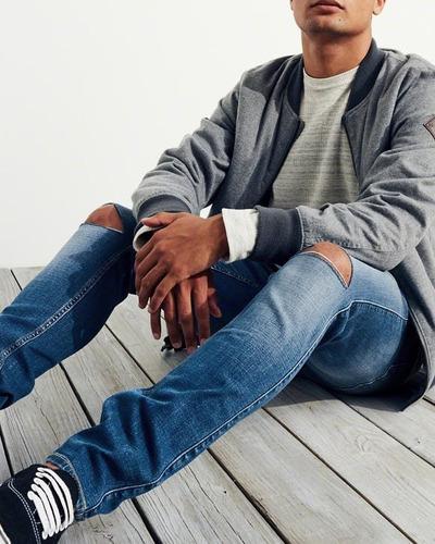 c11bf902f0 ... comprar Pantalón Jeans Super Skinny Hollister Talla 32 X 32 Rasgado ...