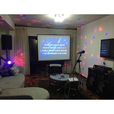 Karaoke en casa con pantalla gigante dj luces y m s s 220 snt9z precio d per - Karaoke en casa ...