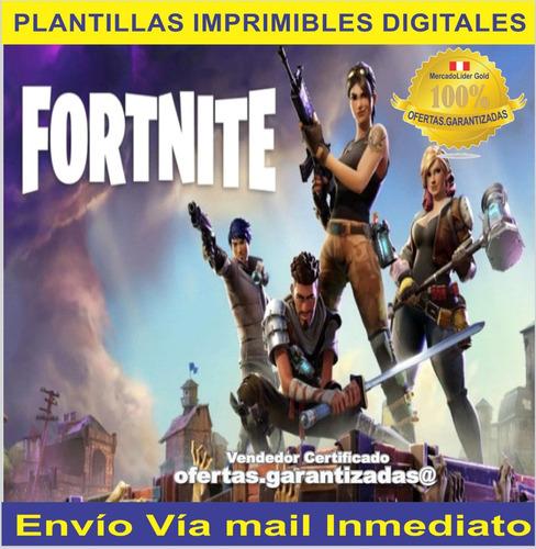 Kit Imprimible Fortnite Tarjetas Cumpleaños Banderines en venta en por sólo S 18 00 Ocompra
