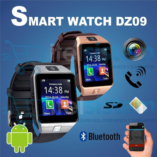 6a5890a1e0d ... comprar Reloj Celular Smartwatch Dz09 Camara Chip Llamada Itelsistem