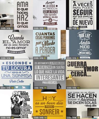 Vinilos Decorativos Frases Para Hogares Y Oficina En Venta